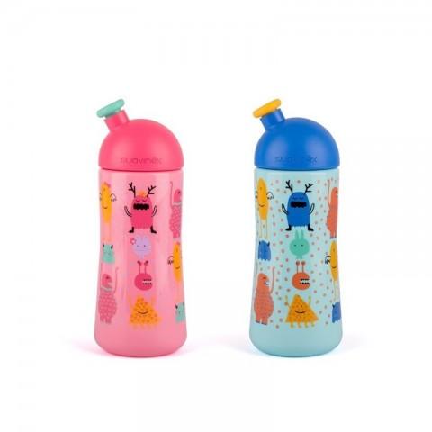 Suavinex botella con boquilla entrena sport + 12 meses 360 ml