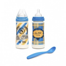 Suavinex pack de biberones con tetina 3 posiciones y tetina de papilla de silicona 360 ml