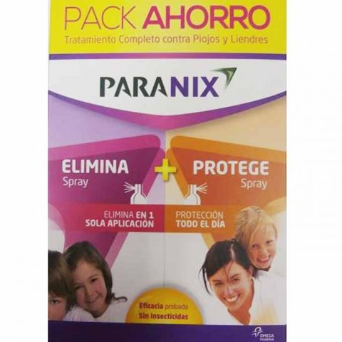 Pack paranix  spray antipiojos 60 ml + protect spray 100 ml