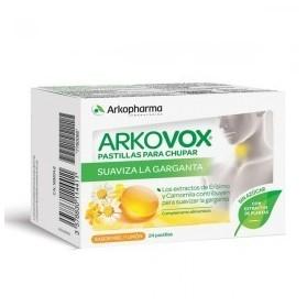 Arkovox dolor de garganta menta-eucalipto 20 comprimidos para chupar