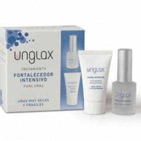 Pack unglax tratamiento fortalecedor intensivo de uñas con endurecedor + crema nutritiva