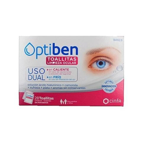 Optiben toallitas de limpieza ocular 28 unidades