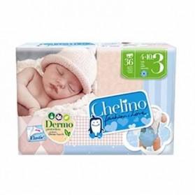 Chelino pañal infantil talla 3 (4-10 kg) 36 unidades