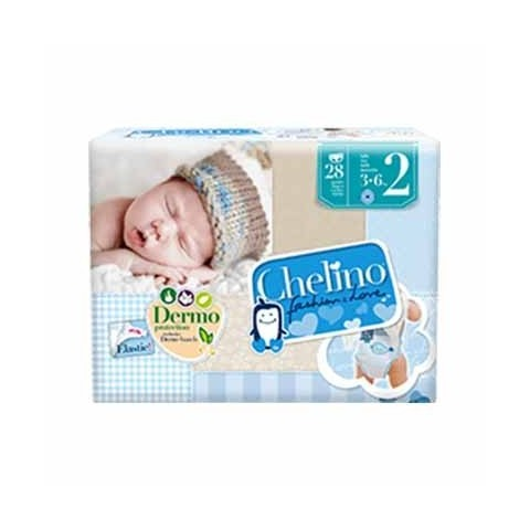 Chelino pañal infantil talla 2 (3-6 kg) 28 unidades