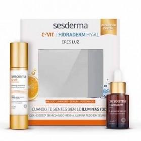 esderma pack C-Vit fluido luminoso + Hidraderm serum