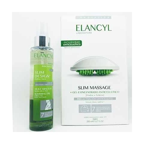 Pack elancyl slim massage + slim desing aceite 200 ml