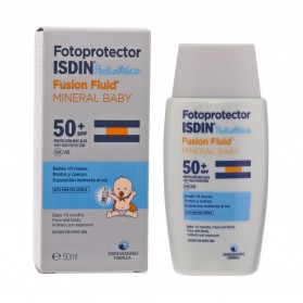 fotoprotector isdin spf 50 fusion fluid mineral baby 50 ml