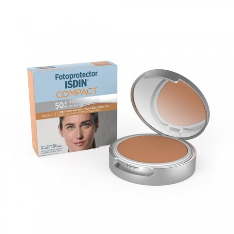 Fotoprotector isdin compact SPF 50 oil free color bronze