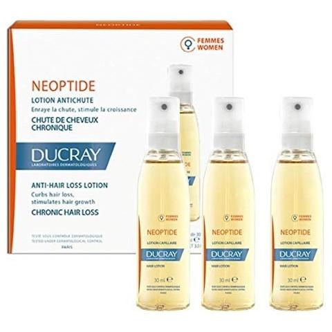 Neoptide loción anticaída mujer ducray 30 ml 3 unidades