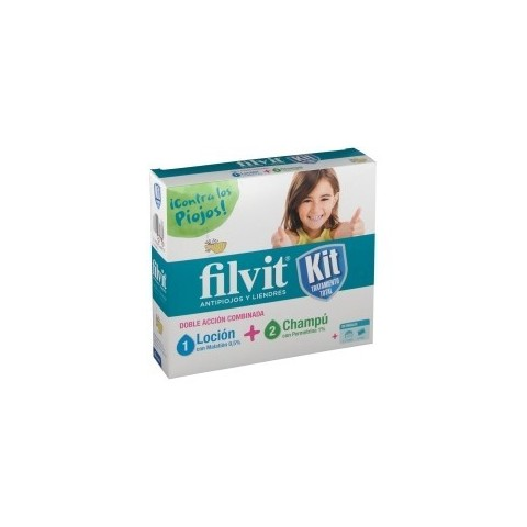 Pack filvit loción 100 ml + champú 100 ml kit antipiojos