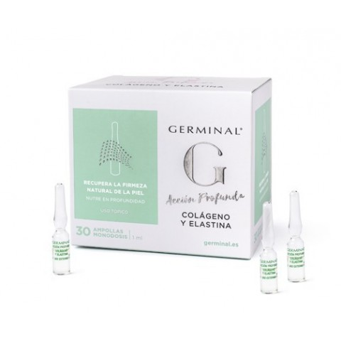 Germinal acción profunda colágeno y elastina 1 ml 30 ampollas