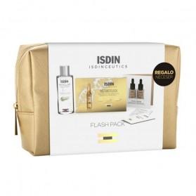 Pack isdinceutics beauty 5 ampollas flash + mini talla solución micelar + muestra maquillaje bronze