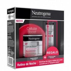 Pack neutrogena cellular boost noche + contorno de ojos