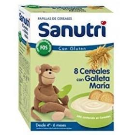 Sanutri papilla 8 cereales con galletas maría 600 g