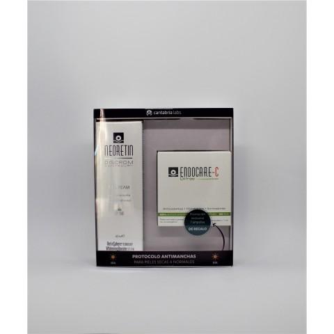 pack neoretin discontrol gel crema spf 50 endocare c 7 ampollas