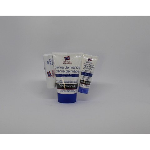 neutrogena pack crema de manos labial locion 15 ml