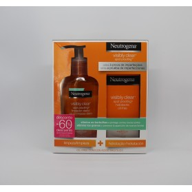 neutrogena pack visibly limpiador 200 ml hidratante oil free 50 ml