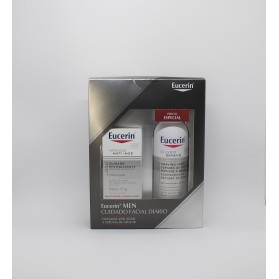 Eucerin men pack espuma de afeitar + crema facial anti edad