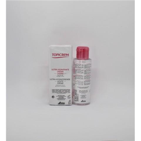 pack topicrem uh crema hidratante 40 ml agua micelar 100 ml