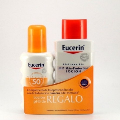 eucerin pack sun protect spf 50 spray locion hidratante