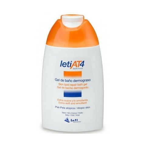 leti at4 gel de bano dermograso 200 ml