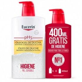 eucerin pack oleogel de ducha 1l 400 ml