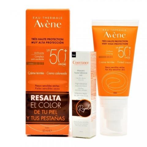 Avene crema SPF50 Color 50ml + Máscara Negra
