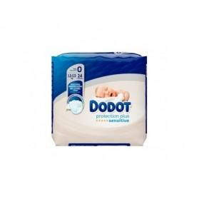 Pañal dodot sensitive recién nacido talla 0 1.5-2.5 kg 24 unidades