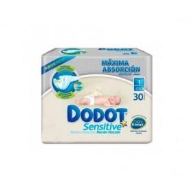 Pañal dodot sensitive recién nacido talla 1 2-5 kg 30 unidades