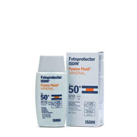 fotoprotector isdin spf 50 fusion fluid mineral 50 ml