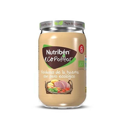 Nutriben Eco Pavo con Verduras Potito Grandote 235 g