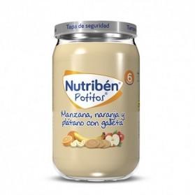 Nutriben Manzana, Naranja, Plátano y Galleta potito Grandote 235g
