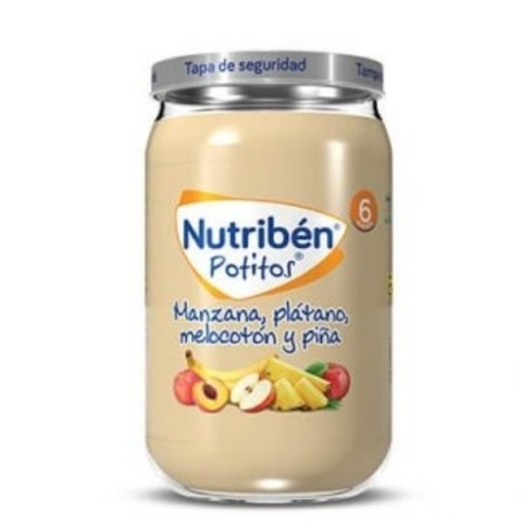 Nutribén Manzana, Plátano, Melocotón y Piña potito Grandote 235g
