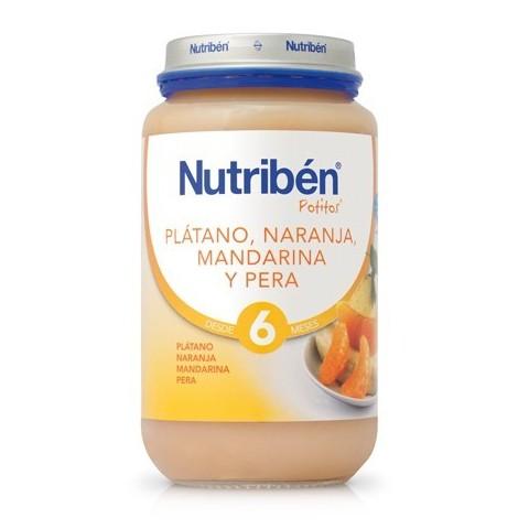 Nutriben plátano, Naranja, Mandarina y Pera Potito Grandote 235g