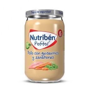 nutriben pollo con guisantes y zanahorias potito grandote 235 g