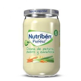Nutriben Crema de Patatas, Puerro y Zanahoria Potito Grandote 235 g
