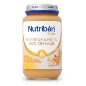 Nutriben Postre 6 Frutas y Cereales potito grandote 250g
