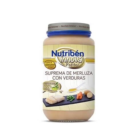 Nutriben Innova Suprema de Merluza y Verduras potito grandodte 235g
