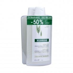 Duplo Klorane Champú Leche de Avena 2x400 ml
