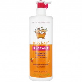 Champú Petit Junior desenredante Klorane perfume melocotón 500 ml