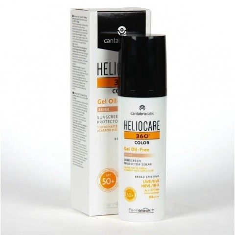 Heliocare 360º SPF50+ color Beige Gel Oil free 50 ml