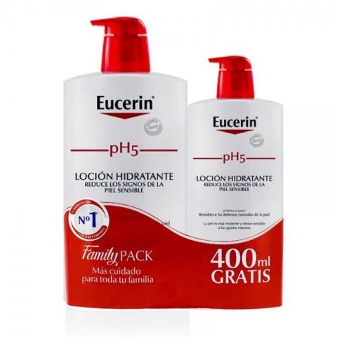 Eucerin piel sensible pH 5 loción 1L + 400 ml