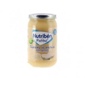 Nutriben suprema de merluza con arroz potito grandote 235 g