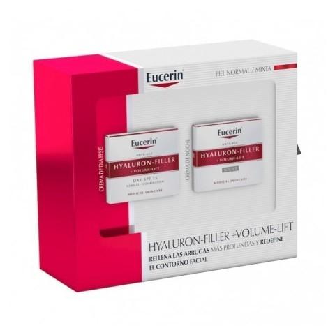pack eucerin hyaluron filler volumen dia y noche