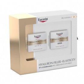 Pack Eucerin Hyaluron Filler Elasticity crema día + crema noche