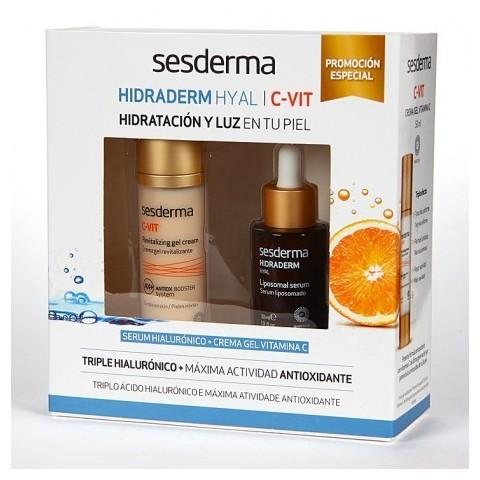 Sesderma Pack C-Vit Crema Gel + Serum Hidraderm Hyal
