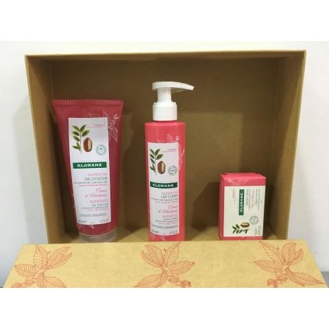 Klorane Pack Flor d´Hibiscus Gel + Leche Corporal + Jabón Crema