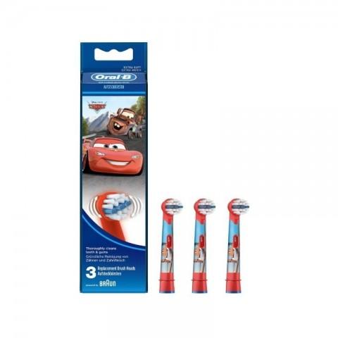 Oral B Recambio de Cabezales Personajes Pixar (Cars) 3 Unidades