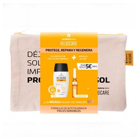 Pack Heliocare 360º Mineral Tolerance Fluid SPF 50 + Ampollas Endocare Radiance