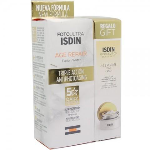 Fotoultra Isdin Age Repair Fusion Water SPF 50 50 ml + Regalo Crema A.G.E. Reverse Day